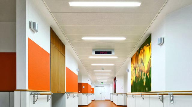 FP-Secure LED-Brandschutzdecke in der Asklepios Stadtklinik Bad Tölz