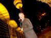 Philips ist offizieller Lichtpartner der Goldenen Kamera 2015: Philips-Lichchef Roger Karner vor dem illuminierten Hamburger Fernsehturm