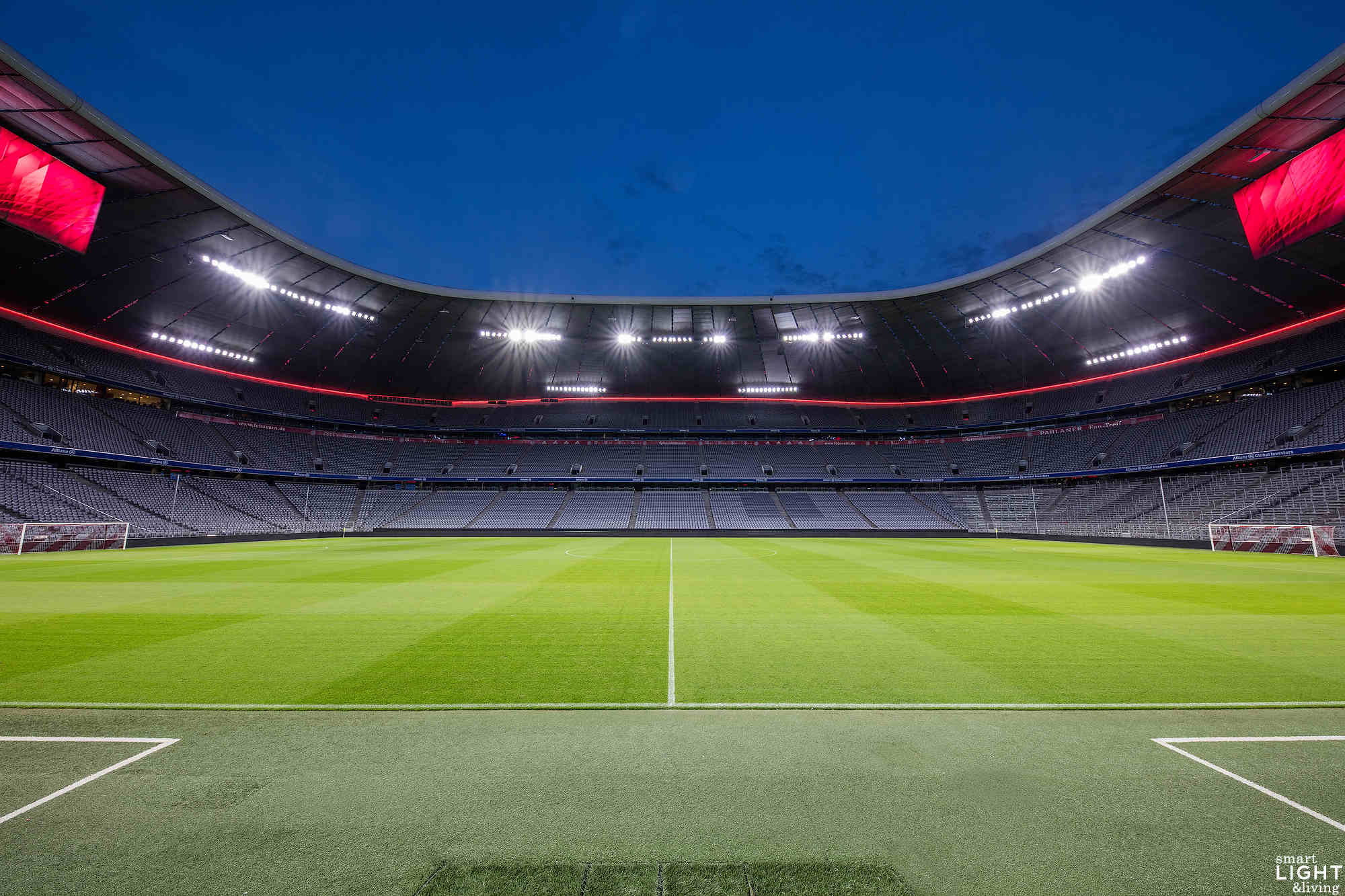 LED-Licht in der Allianz Arena