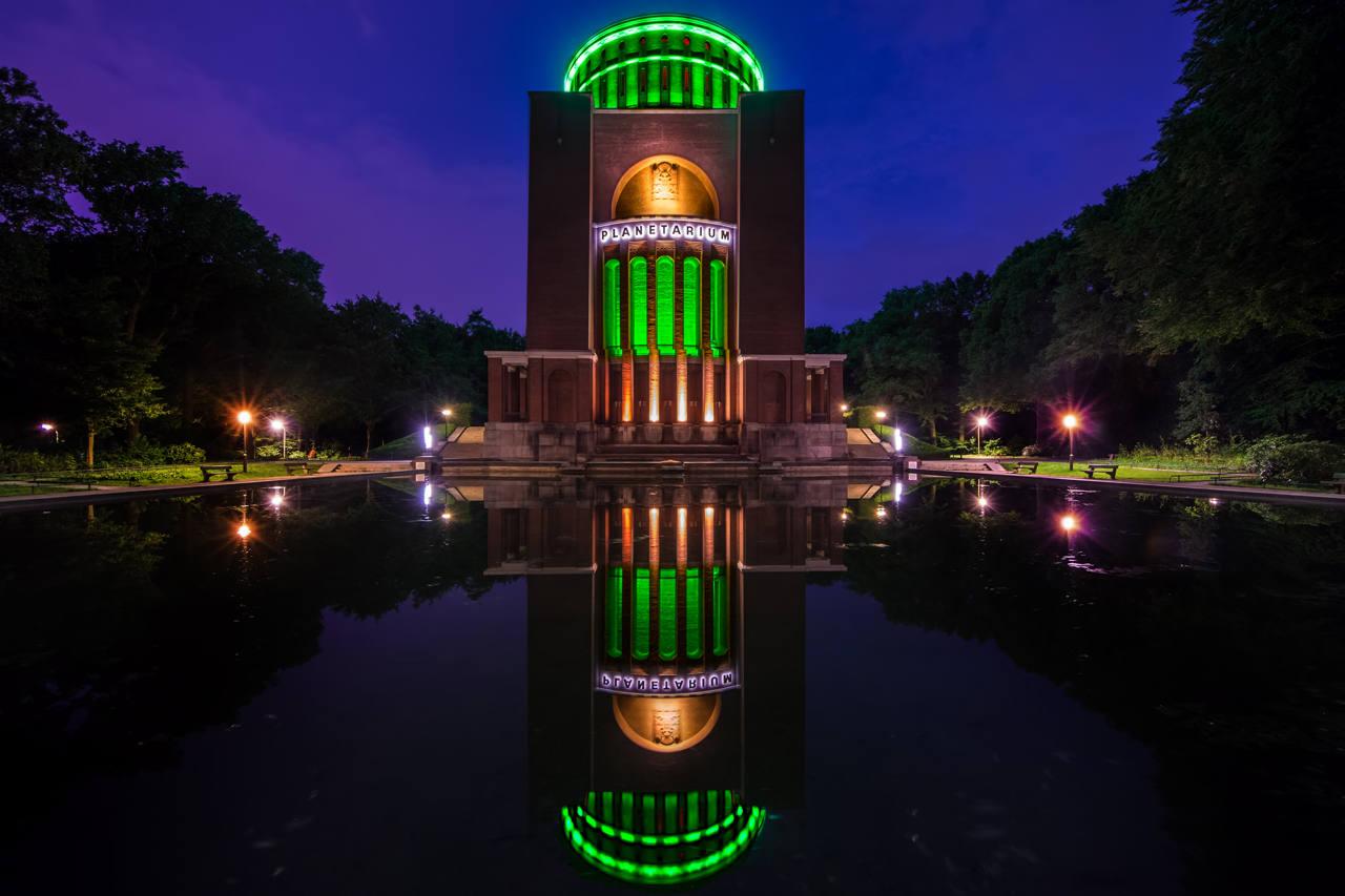 LED im Park: Grünes Licht von Philips fürs Hamburger Planetarium