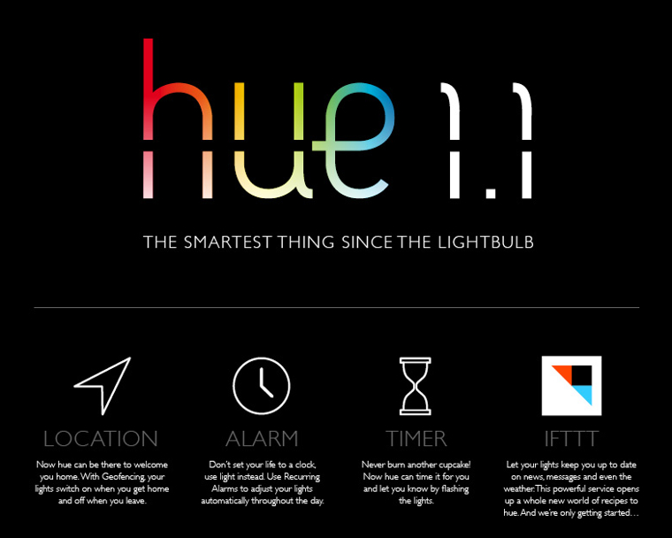 App Update: Philips Hue 1.1  reagiert nun auf Wetter, Facebook und Twitter