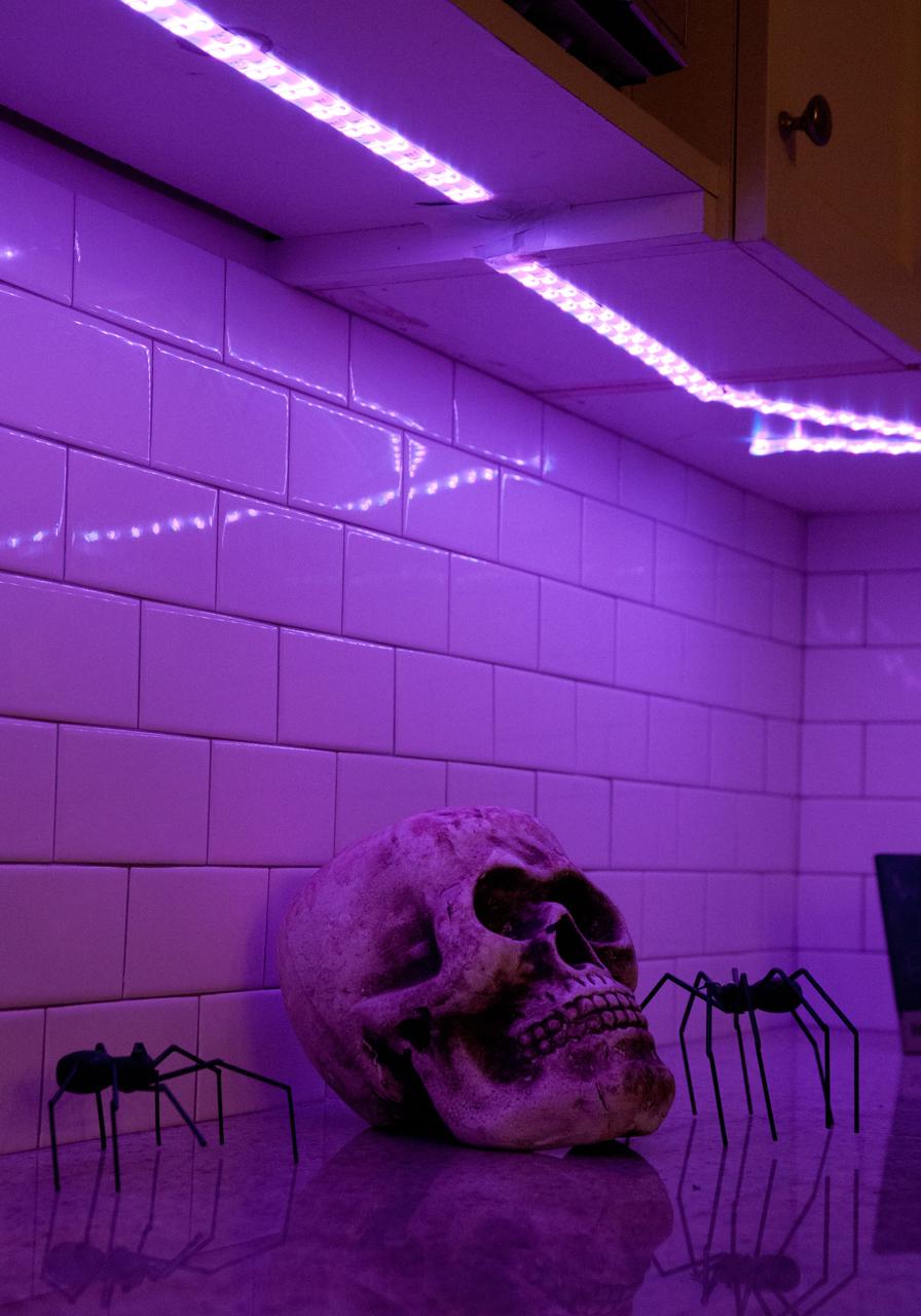 halloween john w rutland inszeniert horror mit philips hue smart light living. Black Bedroom Furniture Sets. Home Design Ideas