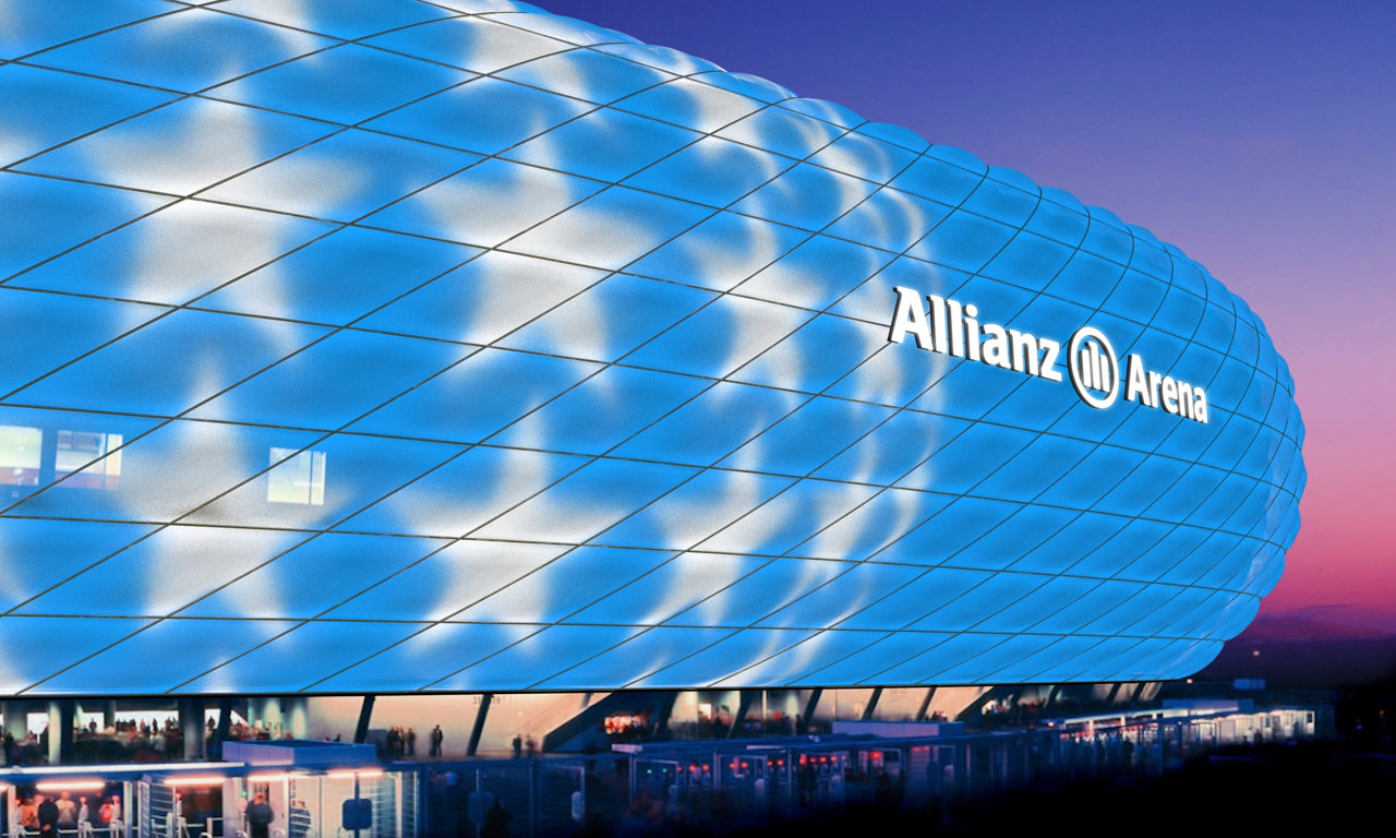 mia san led dynamisches led licht f r allianz arena. Black Bedroom Furniture Sets. Home Design Ideas