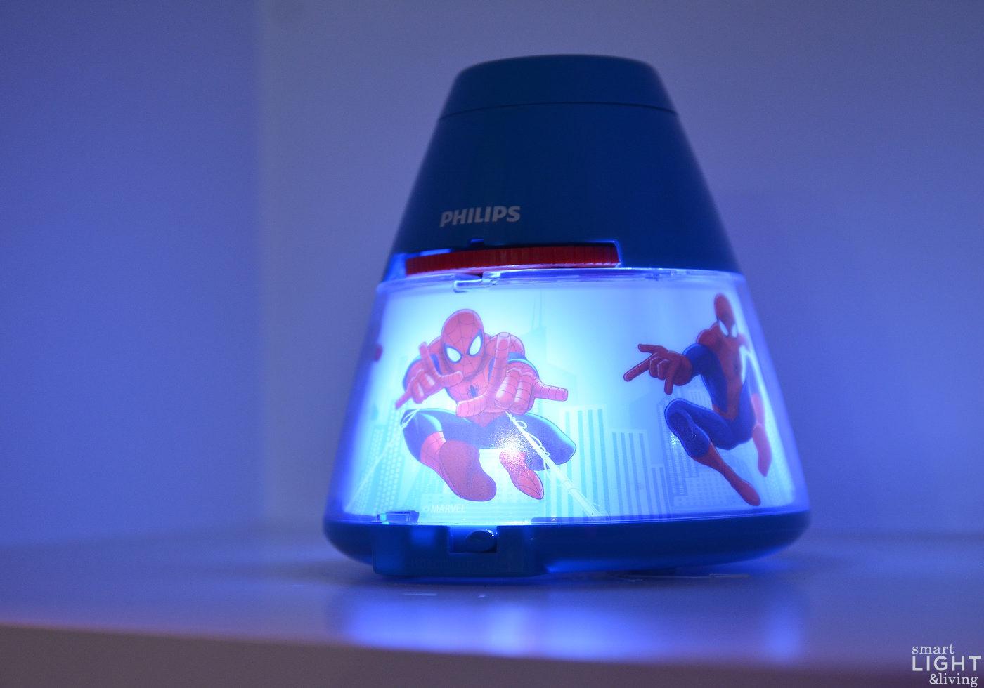 Licht f r kids spider man bringt superhelden stimmung - Licht kinderzimmer ...