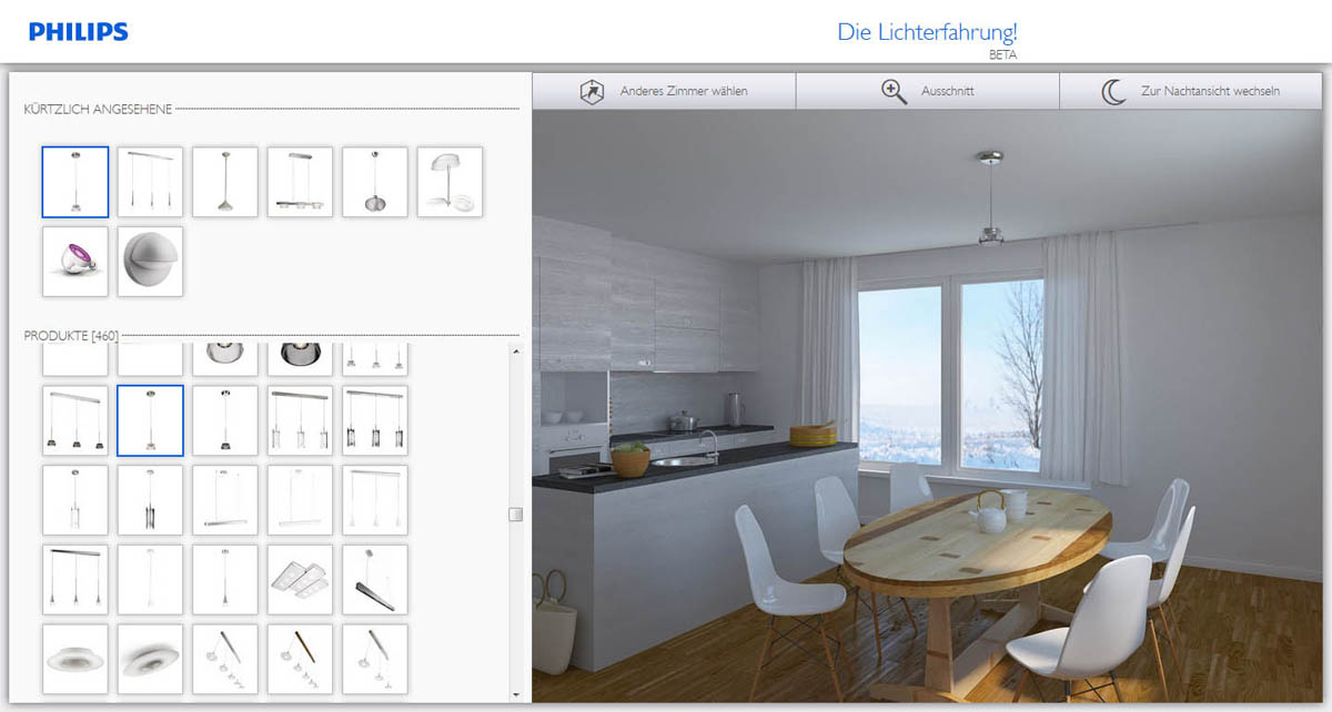 Web-App für smarte Licht-Planung: Home Lighting Designer von Philips ...