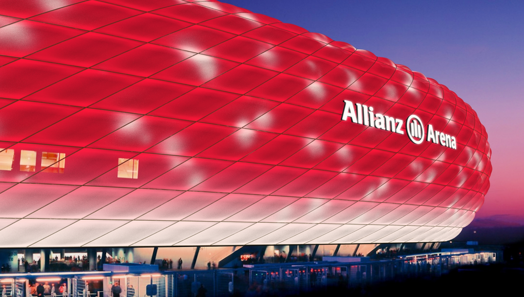 mia san led dynamisches led licht f r allianz arena philips ist licht partner des fc bayern. Black Bedroom Furniture Sets. Home Design Ideas