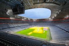 Neues LED-Licht Allianz Arena München