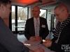 """Andreas Wente, Vorsitzender der Geschäftsführung der Philips Deutschland GmbH beim Pressegespräch zur OLED-Plakat-Aktion """"Next Generation"""""""