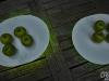 Serie-Sommerlich(t): Apfel auf LED-Licht-Platte
