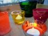 Sommerlicht Serie: LED-Teelichter Tealights im Garten